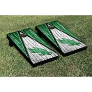 Victory Tailgate NCAA Triangle Weathered Version Cornhole Boards Game Set; North Texas Mean Green