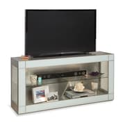 Philip Reinisch Co. Altair Bunching TV Stand; Sea Glass/Metallic Silver
