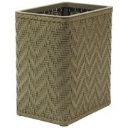 Redmon Elegante 3 Wicker/Rattan Trash Can; Sage Green