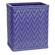Redmon Elegante Decorator Wicker Wastebasket; Coastal Blue
