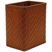 Redmon Elegante 3 Wicker/Rattan Trash Can; Nutmeg