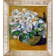 Tori Home Christmas Roses' by Claude Monet Framed Painting