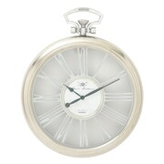 Cole & Grey Alumninium and Glass Wall Clock