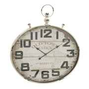 Cole & Grey Metal Wood Wall Clock