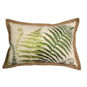 Rightside Design In the Garden Embroidered Ferns Lumbar Pillow