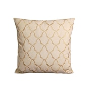 Rightside Design Contemporary Turkish Pattern Throw Pillow; Beige/Gold