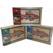 West Coast Smoked Salmon Cedar Gift Boxes, Pink, King, and Sockeye