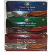 West Coast Smoked Salmon Gift Boxes, Pink, King, and Sockeye