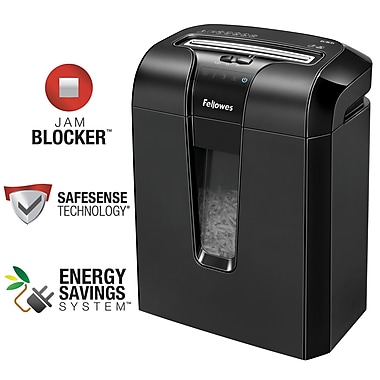 Fellowes® Powershred® 63Cb 10-Sheet Cross-Cut Personal Shredder (4600002)