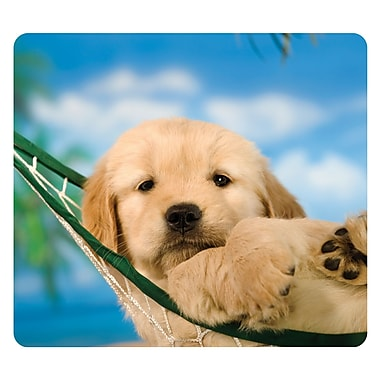 Fellowes® Recycled Mouse Pad, Puppy/Hammock (5913902)