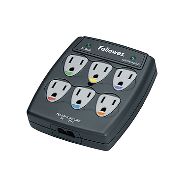 Fellowes® 6 Outlet Wall Surge Protector (FEL99109)