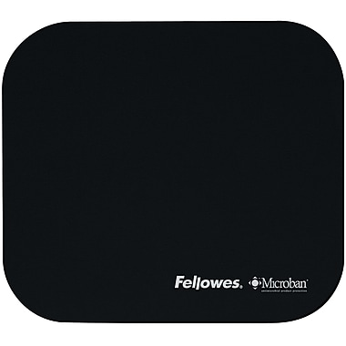 Fellowes® Microban Ultra Thin Mouse Pad, Black (5933901)
