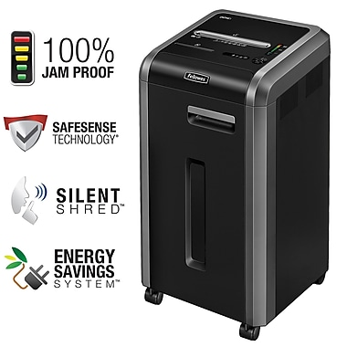 Fellowes® - Déchiqueteur Powershred® 225Ci, 100 % anti-bourrages, coupe en fragments (3825001)