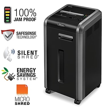 Fellowes® Powershred® 225Mi 100% Jam-Proof Micro-Cut Shredder (4620001)