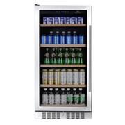 Kingsbottle KBU270B-LHH 334 Can Beverage Fridge Stainless steel