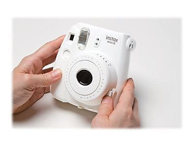 Fujifilm instax mini 8 Instant Camera with One Pack of Rainbow Film, White