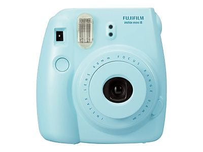 Fujifilm instax mini 8 Instant Camera with One Pack of Rainbow Film, Blue