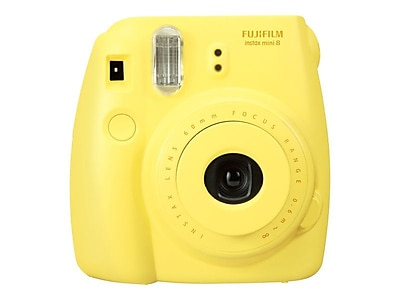 Fujifilm instax mini 8 Instant Camera with One Pack of Rainbow Film, Yellow