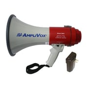 Amplivox® Mity-Meg SB602R Rechargeable Megaphone, 25 W, Wireless, Gray/Red