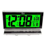 Equity By La Crosse™ Black/Sliver Battery Operated LCD Alarm Clock (30041)
