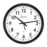 "La Crosse Technology® Indoor 13 1/2""H x 13 1/2""W x 1 1/2""D Black Thinline Analog Wall Clock (404-2634-INT)"