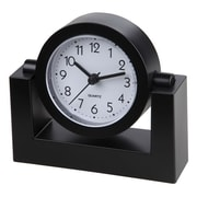 "TimeKeeper 4""H x 2""W x 3""D Black Swivel Desktop Clock (TK6851)"