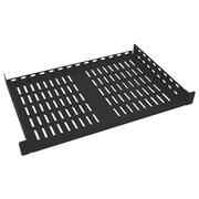 Tripp Lite Rack Shelf for 4 Post Rack Toolless Mounting, Black (SRSHELF2P1UTM)