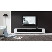 B-Modern Editor Remix TV Stand; High Gloss White