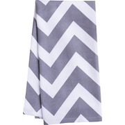 Linen Tablecloth Chevron Kitchen Towel (Set of 2); Charcoal/White