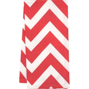 Linen Tablecloth Chevron Kitchen Towel (Set of 2); Red/White