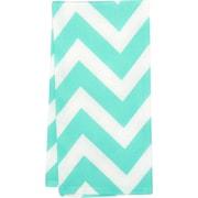 Linen Tablecloth Chevron Kitchen Towel (Set of 2); Mint/White