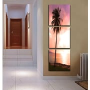 3 Panel Photo Palm Sunshine 3 Piece Photographic Print on Canvas Set; 72'' H x 24'' W x 1'' D