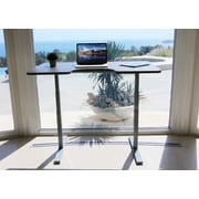 Vifah Smart Standing Desk with Electric Adjustable Height; Walnut