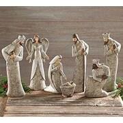 BurtonBurton 7 Piece Resin Birch Bark Nativity Set