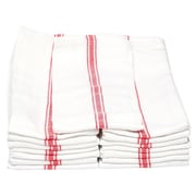 Melange Classic Kitchen Towel (Set of 180); Red