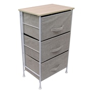 LCM Home Fashions, Inc. 3 Drawer Foldable Storage Chest; Linen