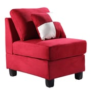 Glory Furniture Jessica Armless Chair; Vinyl - Red