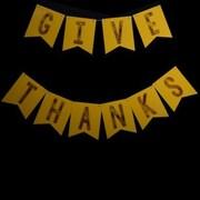ThePaperLanternStore ''Give Thanks'' Thanksgiving Holiday Flag Pennant Banner