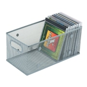 YBM Home Mesh Open Bin DVD /CD/Book Storage Basket