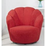 Gold Sparrow Newton Swivel Barrel Chair; Scarlett