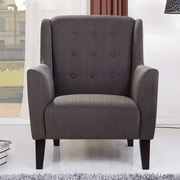 Gold Sparrow Providence Button Tufted Arm Chair; Gray
