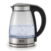 Aroma 1.7 Liter Glass Electric Tea Kettle