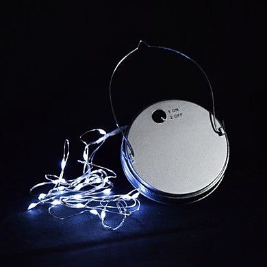 ThePaperLanternStore Moon Bright LED Mason Jar Light; Cool White WYF078279203514