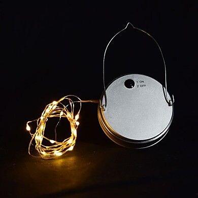 ThePaperLanternStore Moon Bright LED Mason Jar Light; Warm White WYF078279203515