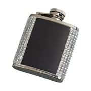 Creative Gifts International Crystal Flask w/ Plates; Black