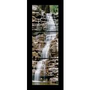 3 Panel Photo Rock Waterfall 3 Piece Photographic Print on Canvas Set; 84'' H x 28'' W x 1'' D