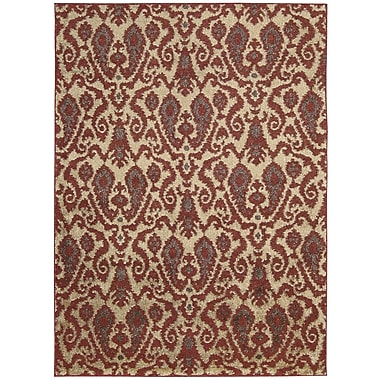 Nourison Kindred Ivory/Red Outdoor Rug; 7'9'' x 10'