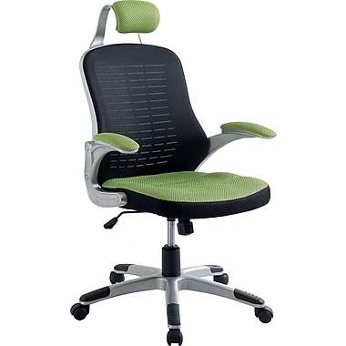Hokku Designs Tarbo Mesh Conference Chair with Arms; Green