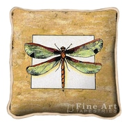 Fine Art Tapestries Butterfly Dragonfly I Throw Pillow