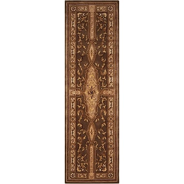 Nourison Versailles Palace Brown/Tan Area Rug; Runner 2'3'' x 8'